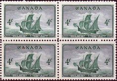 Canada 1948 SG 412 Newfoundland Confederation Cabots Ship Mathew Fine Mint SG 412 Scott 282 Condition Fine MNH Only one post charge applied on