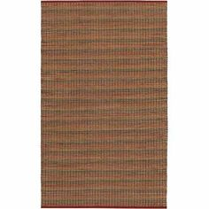 Couristan Natures Elements Fire Rug, Crimson, Red