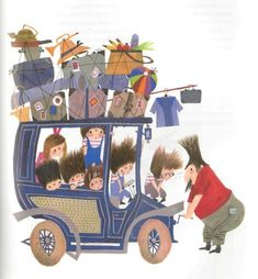Pluk van de Petteflet (Tow Truck Pluck) by Annie M. Schmidt with illustrations by legendary Dutch Illustrator Fiep Westendorp 'Pluk van de Petteflat' is one of Holland's most beloved children's books. People Illustration, Children's Book Illustration, Kids Planner, Sweet Drawings, Cultura Pop, Photos Du, Illustrations Posters, Childrens Books, Illustrators