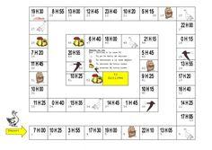 Deux #jeux de l'oie pour apprendre à lire #l'heure (par David74) - Geek-instit French Lessons, Math For Kids, Happy Kids, Decir No, Back To School, Periodic Table, Learning, Cycle 3, Homeschooling