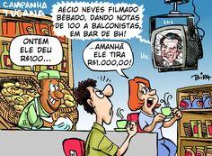 Aécio ( candidato do PSDB para 2014 ) é flagrado bêbado dis