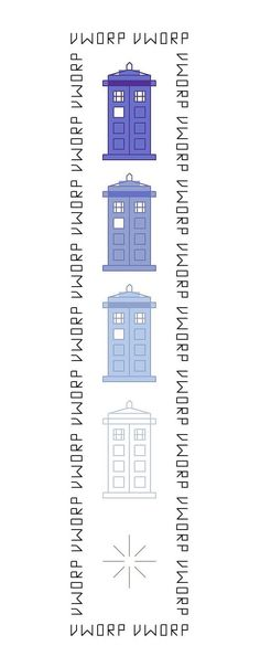 Disappearing TARDIS Bookmark Pattern  Doctor Who by DaleksTeahouse, $2.75