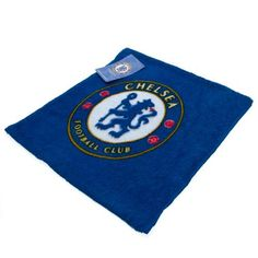 CHELSEA FC Face Cloth Flannel in club colours and featuring the club crest. 30 cm x 30 cm in size. 100% Cotton. Official Licensed Chelsea FC gift. PRICE INCLUDES DELIVERY