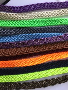 Braided Cord, Glitter Cord, Colored Braided Cord, Bracelet Cord, Jewelery Cord by NoaElastics on Etsy