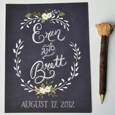 This is my favorite! chalkboard wedding sign | Chalkboard inspired wedding signs