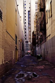 Lone city alley (Seattle)