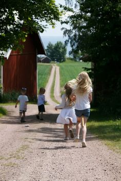 Fun - This image captures the light throughout the picture. It is bright enough to see the kids enjoying their time at the farm.