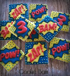 Super Hero Birthday Cookies