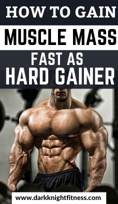 How to gain muscle mass fast as a hardgainer - Dark Knight Fitness Workout Routine For Men, Daily Exercise Routines, Gym Workout Tips, Hard Workout, Men Exercise, Workout Men, Workout Motivation, Men Fitness Motivation, Workout Plans