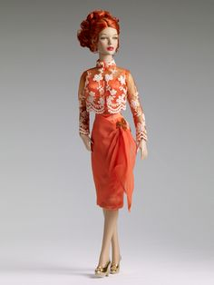 Ack! A must-have outfit. This is Sunset Cocktails, modeled by Peggy.    THE FASHION DOLL REVIEW: DeeAnna Denton new releases from Tonner Doll