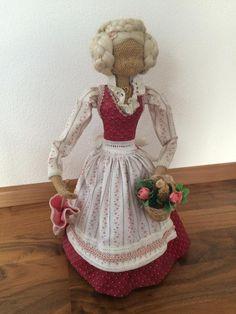 Rupfenpuppe, ca. 35 cm hoch, guter Zustand, nur etwas verstaubt  Versand möglich,Rupfenpuppe Puppe in Bayern - Osterzell