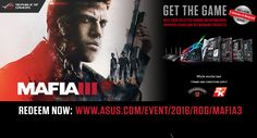 ASUS giving way Mafia III for free with select ASUS motherboards, GPUs and networking products. This offer will be taking place between now and December 26th, with the code redemption period starting from October 21st to January 16th. Check out the list below for the products which are qualified for this promotion.