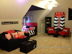 teenage bedroom - chevron & corals By Samantha FOLLOW @Karen Jacot Darling Space & Stuff Blog Luna