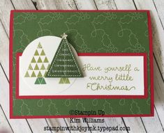 Stampin Up Christmas Quilt stamp set bundle.Stitched Felt embellishments work perfectly with this set. Christmas card ideas from the Stampin Up Holiday Catalog. Kim Williams, Pink Pineapple Paper Crafts, Stampin with Kjoyink. www.stampinwithkjoyink.typepad.com
