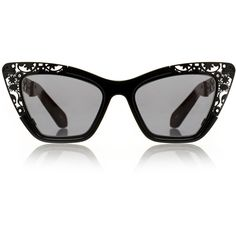 4c674c57b0e Karen Walker Siouxsie Filigree Black Sunglasses ( 115) ❤ liked on Polyvore  featuring accessories