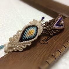 マクラメブレスレット Macrame Art, Micro Macrame, Diy Rings, Macrame Bracelets, Ring Bracelet, Diy And Crafts, Crochet Earrings, Weaving, Jewels