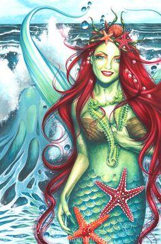 Mermaid Print  Siren
