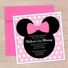 Mini Mouse Birthday Invitation by TheSunnySidesUp on Etsy, $4.00