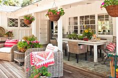 Like this back porch/patio combo A Few Snap Shots From Country Style Magazine -
