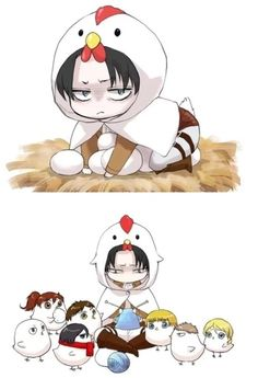 Levi and his childrens :') so cute