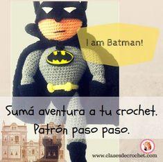 Batman a crochet: amigurumis paso a paso