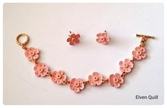Quilled Necklace and Earrings - by: Elvin Quill