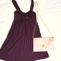 Anthropologie Purple Tank Dress The perfect warm weather piece! The wide straps, fitted bust and flowing skirt make your cutest look your most comfortable! (I have this in a yellow maxi style and it's AMAZING!) No flaws, excellent condition! Anthropologie Dresses