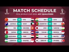 MATCH SCHEDULE: FIFA WORLD CUP 2022 AFC QUALIFIERS - YouTube World Cup 2022, Fifa World Cup, Match Schedule, Singapore, Japan, Group, Youtube, Japanese, Youtubers