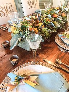 Fall tablescape-rough luxe lifestyle