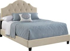 Rooms To Go Luella linen bed - LOVE THIS ONE!