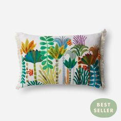Palm Tree Fringe Bolster Pillow by Justina Blakeney® now available at Jungalow®