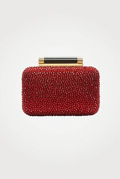 Tonda Small Crystal Clutch In Garnet