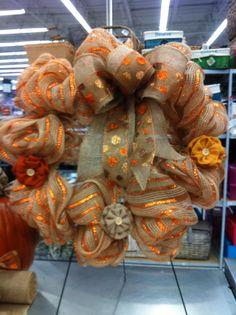 Fall mesh wreath by kristy@michaels