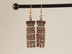 Chandelier earrings! #etsy #earrings #costume #cosplay #chainmail #chainmaille