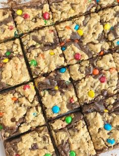 Easy Monster Cookie Brownies - Print Chocolate Chip M&m Cookies, Chewy Sugar Cookies, Brownie Cookies, Chocolate Flavors, Chocolate Brownies, Chocolate Chips, Easy Cookie Recipes, Snack Recipes, Baking Recipes