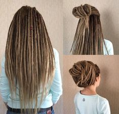 Custom Synthetic Dreads and Dread Accessories von fizzdreads Pelo Rasta, Rasta Hair, Pelo Afro, Prom Hairstyles For Long Hair, Dreadlock Hairstyles, Braided Hairstyles, Heart Hairstyles, Pretty Hairstyles, White Girl Dreads