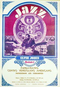 198: 1970's Elvin Jones Quintet Jazz Concert Poster : Lot 198