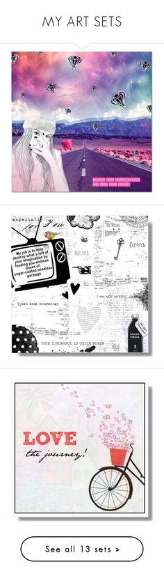 """MY ART SETS"" by larissa-takahassi ❤ liked on Polyvore featuring art, Christmas, love, peace, joy, bright, snowflakes, holidaygreetingcard, PVStyleInsiders and mistletoe"