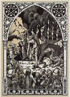 001-Reunion de brujas y demonios en el Sabbat- Maurice Garçon. La Vie Execrable de Guillemette Babin, Sorciere. Paris 1926