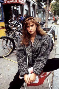 mode années 80 veste surdimensionné street style