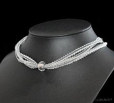 wedding kristal - luxlace Bobbin Lace Patterns, Lacemaking, Lace Jewelry, Lace Weddings, Creations, Sweaters For Women, Knitting, Ideas, Bracelets