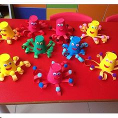 paper cup octopus craft  |   Crafts and Worksheets for Preschool,Toddler and Kindergarten