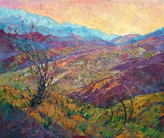 Coyote Canyon II - Modern Impressionism Paintings by Erin Hanson | Original Expressionism Oil Paintings for Sale | California Impressionist Landscapes