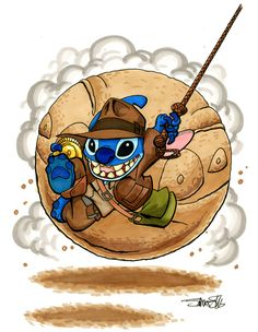I love it when they show stich dressed up as someone else . They should start a new cartoon where stich dresses up as random charicture from any move and go on a adventure for instancen this time it would be Indiana jones Lilo Stitch, 626 Stitch, Lilo And Stitch 2002, Lelo And Stitch, Disney Stitch, Disney Kawaii, Cute Disney, Disney Art, Disney Stuff