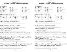 Imagini pentru adunari si scaderi cu trecere peste ordin clasa 4 fisa de lucru Math School, Disney Drawings, Activities For Kids, Google, Classroom, Math Equations, Bedroom Cupboards, Insta Story, Cap