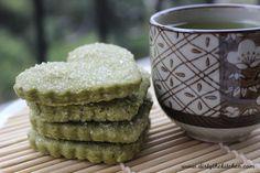 Matcha Shortbread Cookies. Green tea flavored cookies. Perfect for afternoon tea or Christmas cookies. #dirtythekitchen