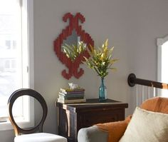How To Make an Ikat-Inspired Mirror