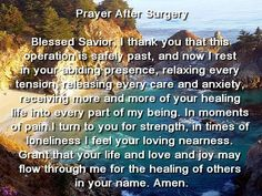 prayers before surgery loved one - Google Search