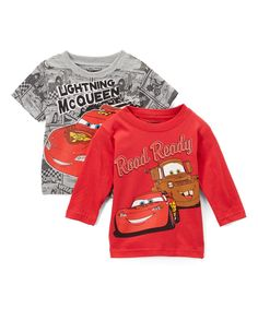 bde66219 Loving this Children's Apparel Network | Disney Cars Gray & Red Tee Set  - Infant