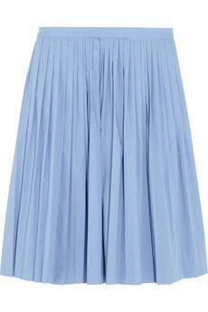 J.Crew Pleated cotton-blend poplin skirt   NET-A-PORTER